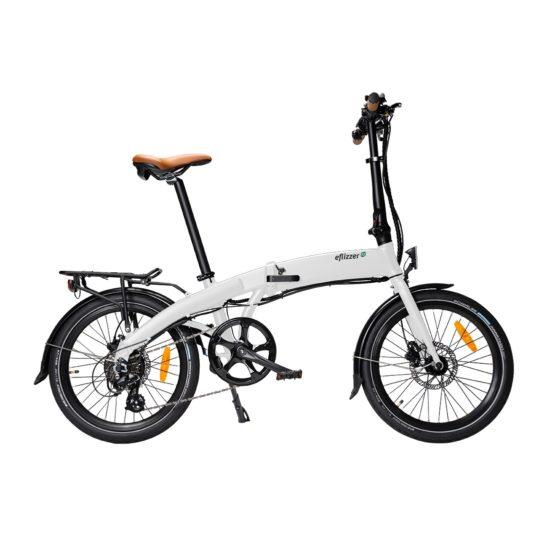 eflizzer klappbares E-Bike Sprint Premium weiss - Produktbild